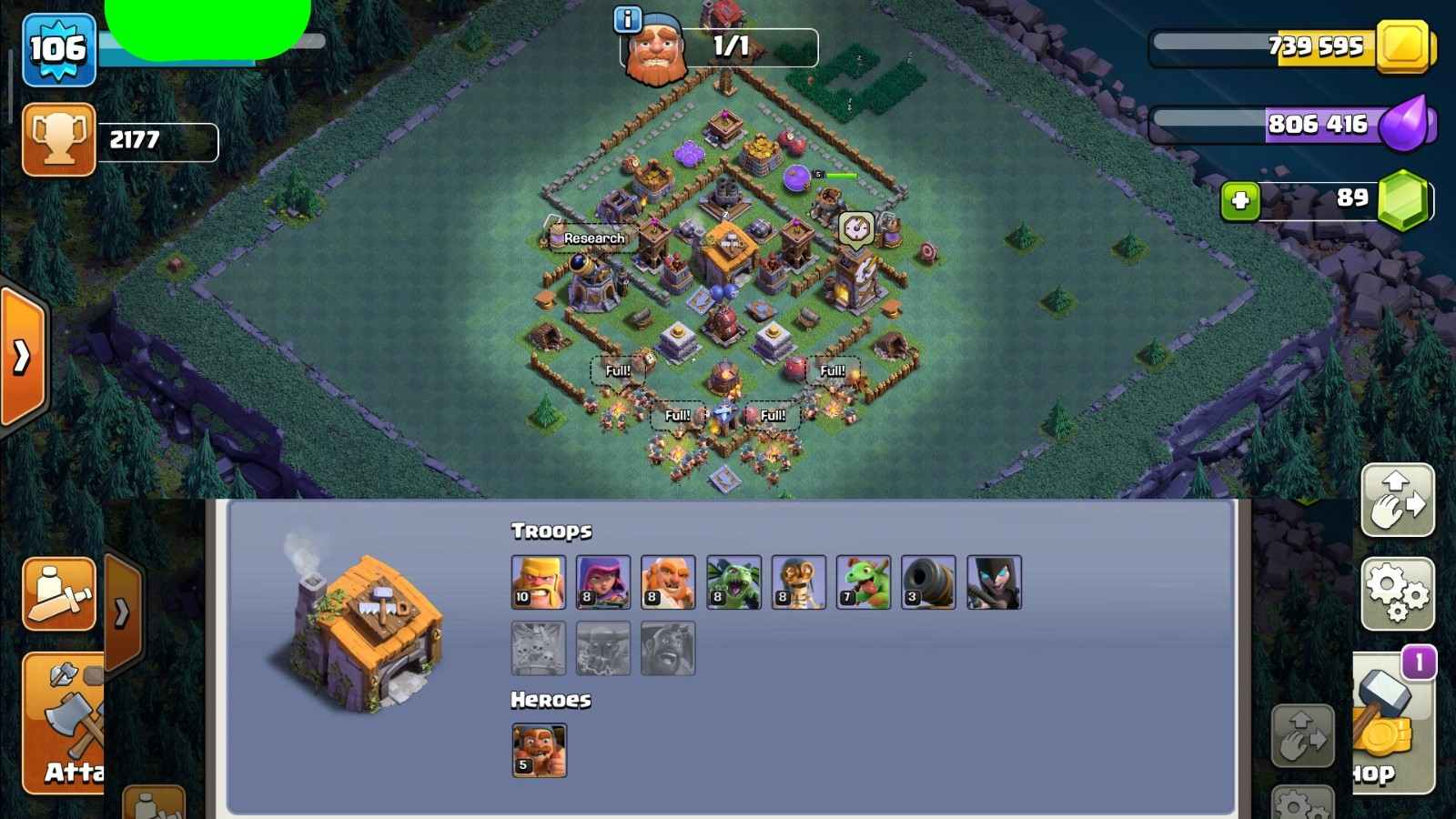 Clash Of Clans Google Play Th9 Builder4 Gems89 Fast Delivery Cheap