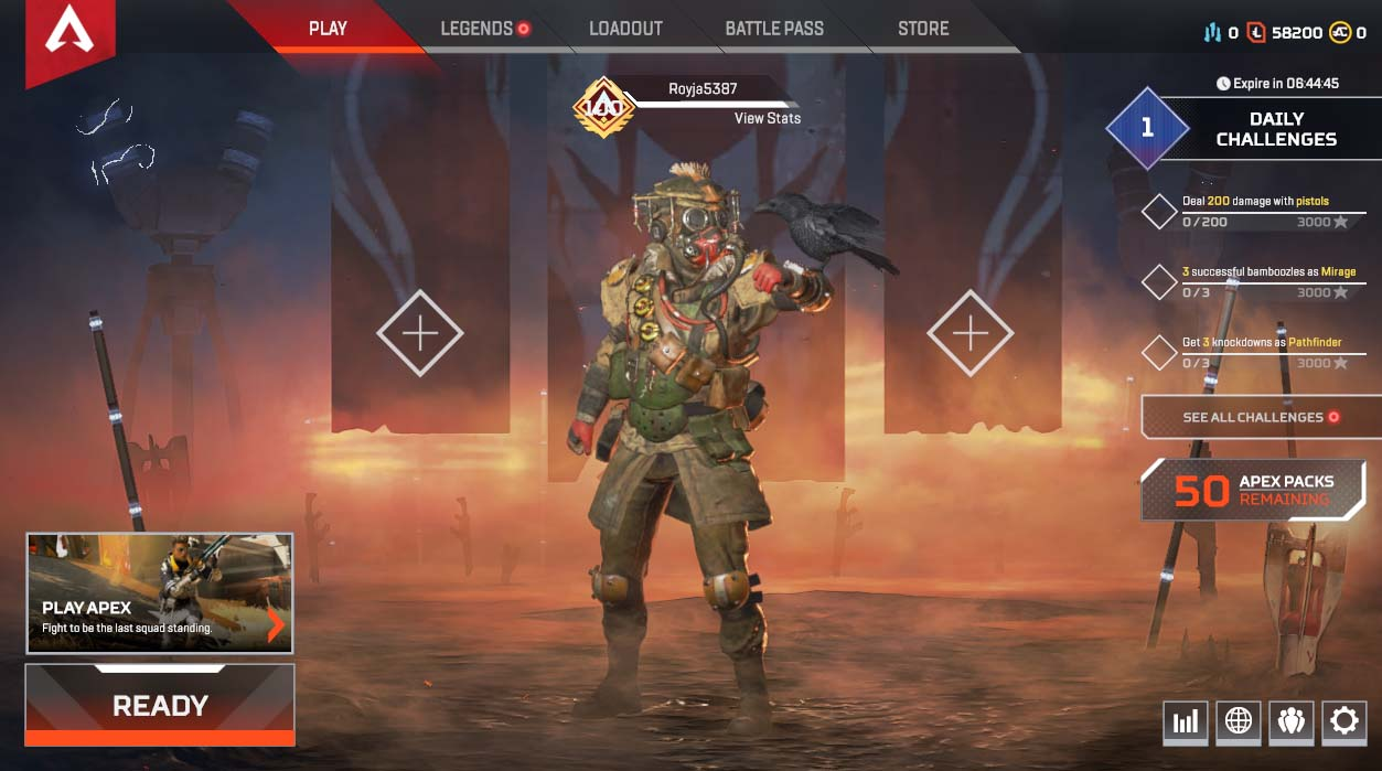 APEX Legends ACCOUNT-LEVEL 100✅50 APEX Packs✅Possiblity to