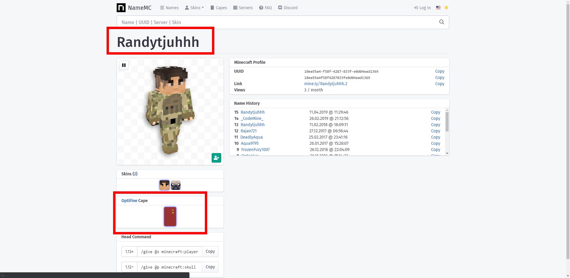 Minecraft Java Edition-Minecraft Premium + OptiFine CAPE + Hypixel