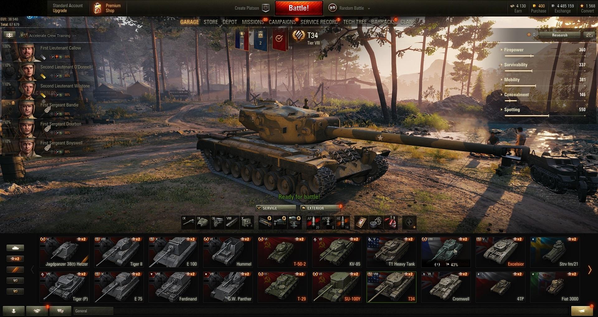 A 43 Wot world of tanks pc eu-tier x 1   ix 1   viii 2   vii 3   prem