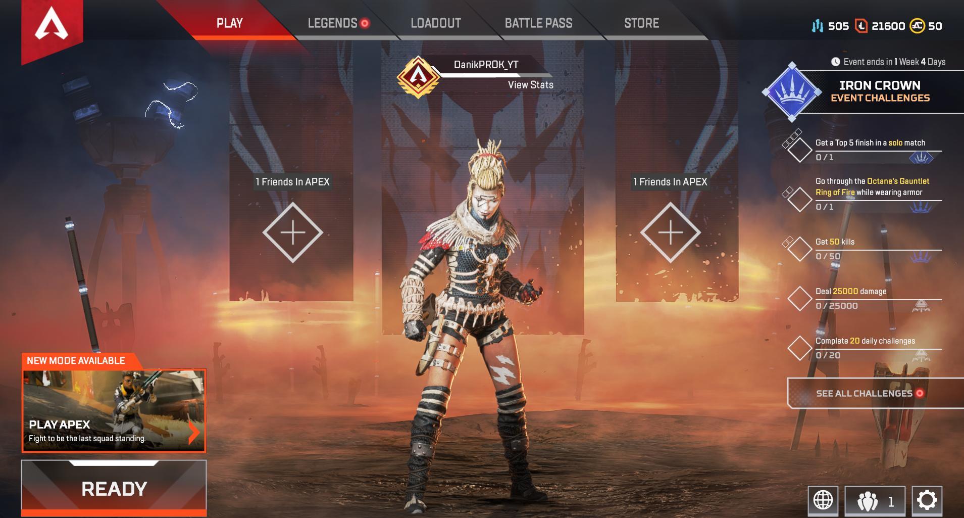 APEX Legends ACCOUNT-Level 119✅Full Legends & 21600 Tokens